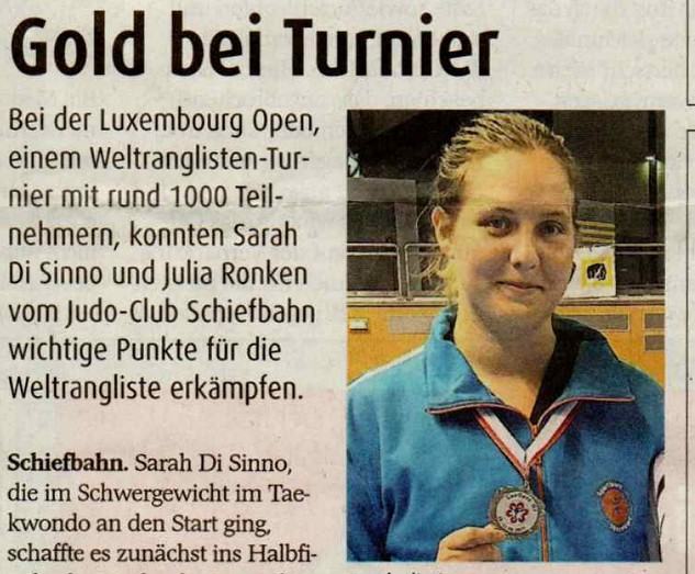 Luxembourg Open – GOLD!